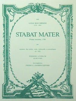 Luigi Boccherini - Stabat Mater –Parties cordes - Partition - di-arezzo.fr