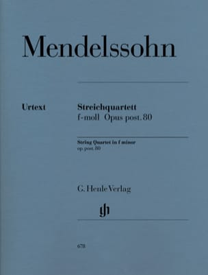 MENDELSSOHN - String quartet in F minor op. post. 80 - Sheet Music - di-arezzo.co.uk