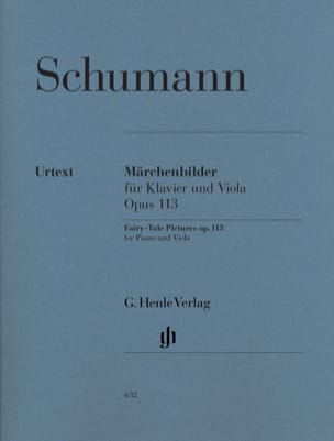 SCHUMANN - Märchenbilder op. 113 for piano and viola - Sheet Music - di-arezzo.co.uk