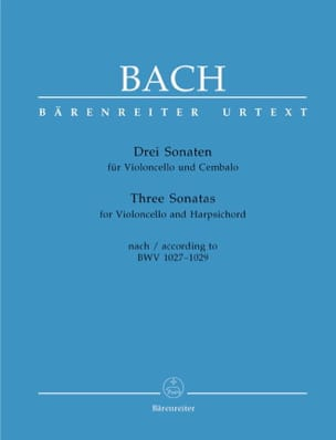 BACH - 3 Sonate BWV 1027-1029 - Partitura - di-arezzo.it