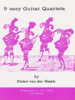 9 Easy Guitar Quartets Pieter van der Staak Partition laflutedepan