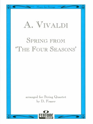 Antonio Vivaldi - Spring from The four seasons – String Quartet - Partition - di-arezzo.fr
