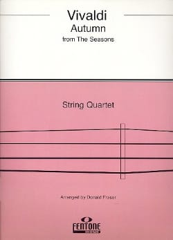 VIVALDI - Autumn from Four seasons - String Quartet - Sheet Music - di-arezzo.co.uk