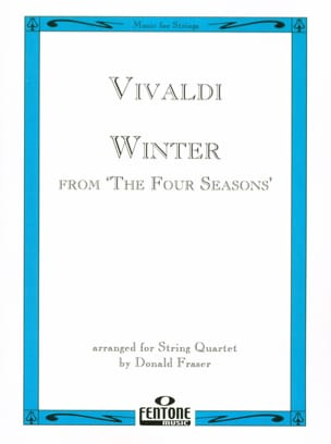 Antonio Vivaldi - Winter from The four seasons – String Quartet - Partition - di-arezzo.fr