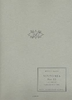 Joseph Haydn - Sinfonia n° 83 - La poule – Partitur - Partition - di-arezzo.fr