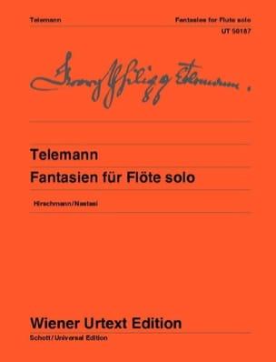 TELEMANN - 12 Fantasy - Solo flute - Sheet Music - di-arezzo.co.uk
