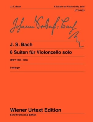 BACH - 6 Suites BWV 1007-1012 - Sheet Music - di-arezzo.co.uk