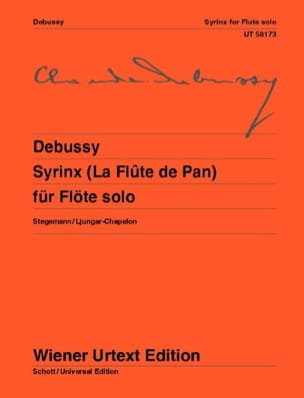 DEBUSSY - Syrinx The Pan Flute - Solo Flute - Sheet Music - di-arezzo.co.uk