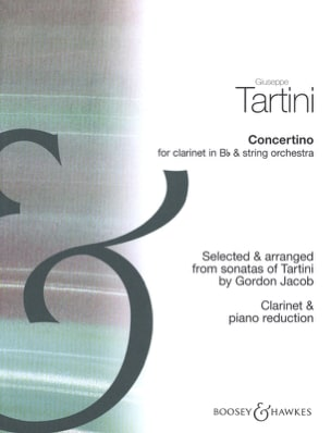 Concertino - Clarinette TARTINI Partition Clarinette - laflutedepan