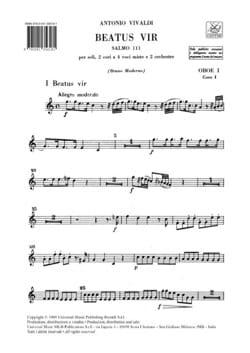 Beatus Vir Salmo 111 RV 597 - Matériel Complet VIVALDI laflutedepan