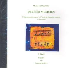 Michel Vergnault - CD - Devenir musicien 3ème Livre - Partition - di-arezzo.fr