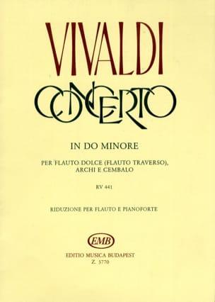 Concerto en do min. F. 6 n° 11 - Flauto dolce VIVALDI laflutedepan