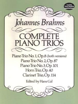 Complete Piano Trios - Full Score - Johannes Brahms - laflutedepan.com
