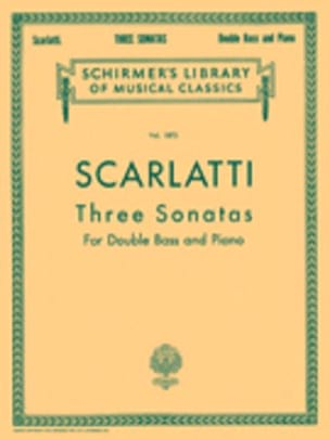 Alessandro Scarlatti - 3 Sonatas - Double bass Piano - Sheet Music - di-arezzo.co.uk