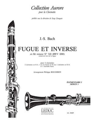 Bach Johann Sebastian / Rougeron Philippe - Fugue et Inverse en ré mineur - Partition - di-arezzo.fr