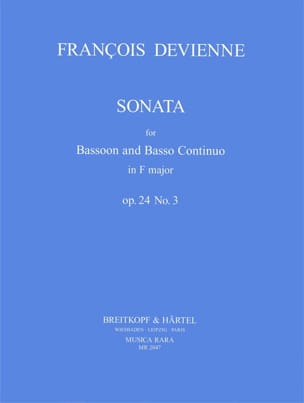 François Devienne - Sonata F Major Op. 24 No. 3 - Sheet Music - di-arezzo.com