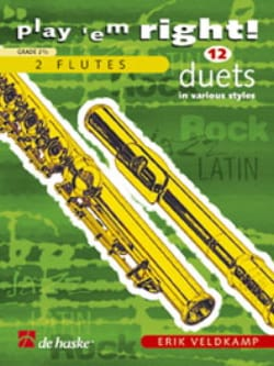 Erik Veldkamp - Play'em Right - 12 Duets - 2 Flutes - Partition - di-arezzo.fr