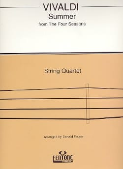 Antonio Vivaldi - Summer from The four seasons – String Quartet - Partition - di-arezzo.fr