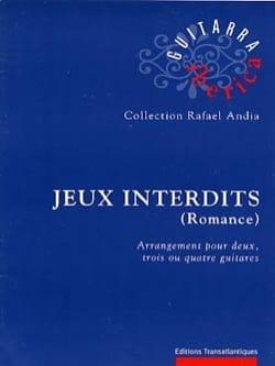 Narcisso Yepes - Jeux Interdits (Romance Espagnole) - 2-3-4 Guitares - Partition - di-arezzo.fr