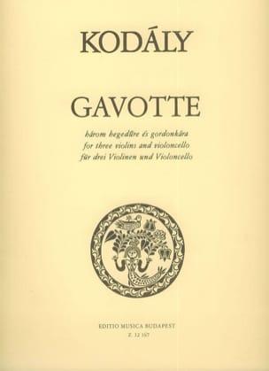 Zoltan Kodaly - Gavotte - 3 Violinen u. Violoncello - Partitur + Stimmen - Partition - di-arezzo.fr