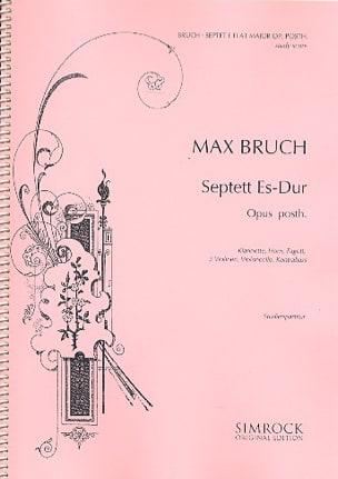 Max Bruch - Septuor Mib Maj. Op.Posth. - Conducteur - Partition - di-arezzo.fr