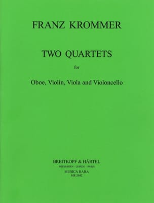 Franz Krommer - 2 Quartets in C and F - Oboe violin viola cello - Sheet Music - di-arezzo.co.uk