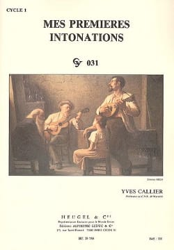Yves Callier - My first intonations - Sheet Music - di-arezzo.com