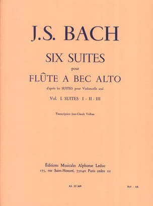 BACH - 6 Suites - Volume 1 - Alto Recorder - Partitura - di-arezzo.it