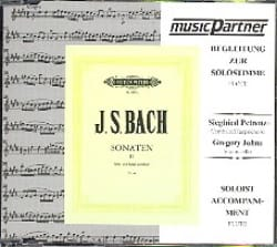 BACH - Sonates Pour Flûte Volume 2 - CD Accompagnement - Partition - di-arezzo.fr
