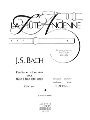 BACH - Partita in D minor BWV 1004 - recorder - Sheet Music - di-arezzo.com