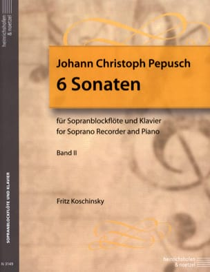 Johann Christoph Pepusch - 6 Sonates Volume 2 - Flûte A Bec Soprano et Piano - Partition - di-arezzo.fr