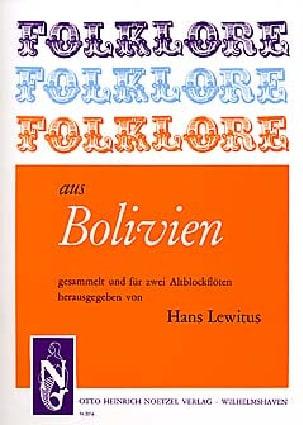 Traditionnels - Folklore aus Bolivien - 2 Flûtes à Bec Alto - Partition - di-arezzo.fr