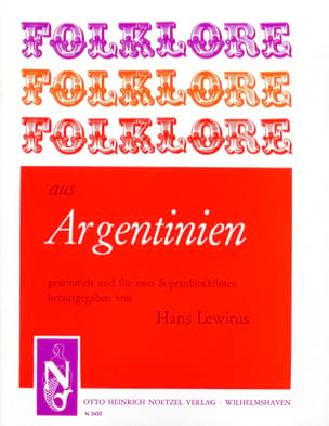 Traditionnels - Folklore aus argentinien - 2 Sopranblockflöten - Sheet Music - di-arezzo.co.uk