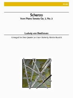 BEETHOVEN - Scherzo - 4 Flöten - Partition - di-arezzo.fr