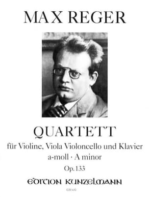 Max Reger - Quartett a-moll op. 133 – Stimmen - Partition - di-arezzo.fr