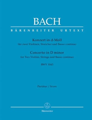 BACH - Konzert d-Moll BWV 1043 - 2 Violinen - Driver - Sheet Music - di-arezzo.co.uk