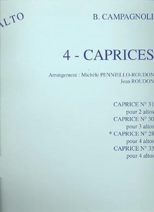 Caprice n° 28 op. 22 - 4 Altos Bartolomeo Campagnoli laflutedepan