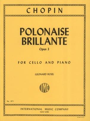 CHOPIN - Polonaise brillante op. 3 - Partition - di-arezzo.fr