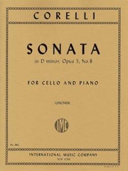 Sonate en ré mineur, op. 5 n° 8 CORELLI Partition laflutedepan