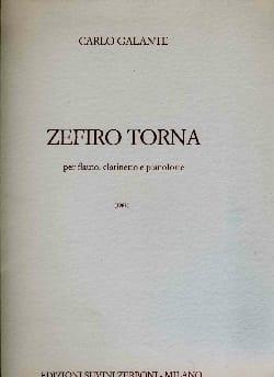 Carlo Galante - Zefiro Torna - Partition - di-arezzo.fr