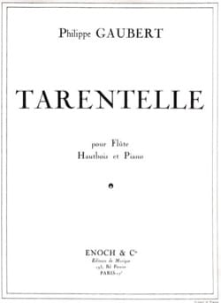 Philippe Gaubert - Tarentelle - Partition - di-arezzo.fr