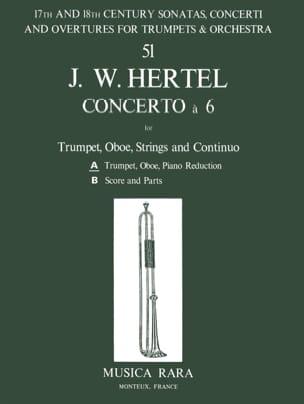 Johann Wilhelm Hertel - Concerto à 6 –Trumpet Oboe Piano - Partition - di-arezzo.fr