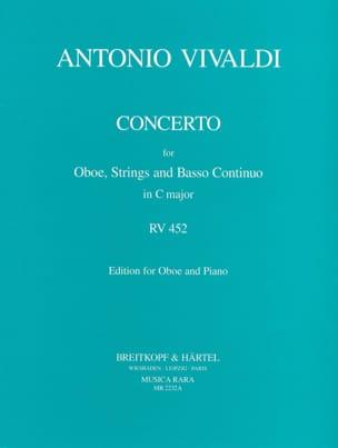 Concerto Hautbois, Cordes et B.C. En Do Maj - Rv.452 laflutedepan