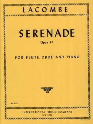 Paul Lacombe - Sérénade op. 47 - Partition - di-arezzo.fr