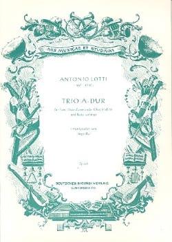 Trio A-Dur - Flöte Oboe d'amore u. Bc Antonio Lotti laflutedepan