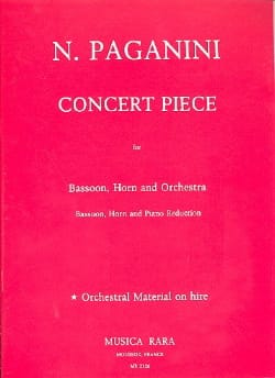 Niccolò Paganini - Piece Concert - Bassoon horn piano red. - Sheet Music - di-arezzo.com