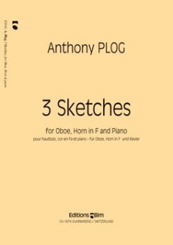 Anthony Plog - 3 Sketches - Oboe horn in F piano - Partition - di-arezzo.fr
