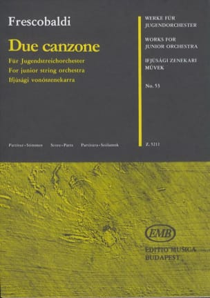 Girolamo Frescobaldi - 2 Canzone - Junior String Orch. - Sheet Music - di-arezzo.co.uk