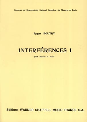 Roger Boutry - Interference 1 - Sheet Music - di-arezzo.co.uk