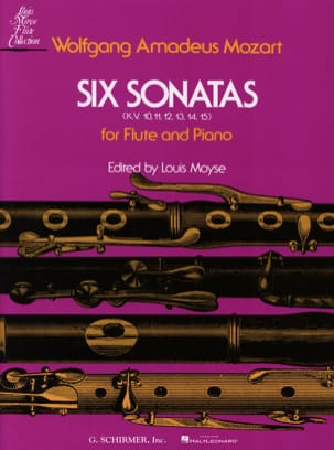 MOZART - 6 Sonatas, KV 10-15- Piano flute - Sheet Music - di-arezzo.co.uk